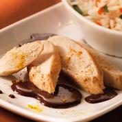 Aiguillettes de poulet sauce curry-chocolat