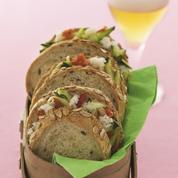 Petits sandwichs croustillants au crabe et Bière de Printemps