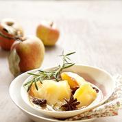 Pommes pochées au cidre