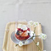 Timbale de fruits frais et brassé à la vanille Bio nat'