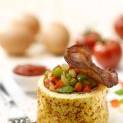 Omelette aux saveurs du pays basque