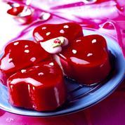 Gâteau glacé vanille fraise