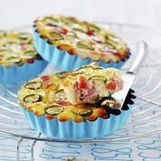 Quiche jambon courgettes