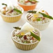 Salade de riz, asperges et bresaola