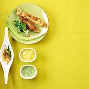 Brochettes de poulet sauce indienne à la menthe