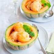 Soupière de melon de nos régions glacée au champagne