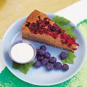 Gâteau de sarrasin aux cranberries