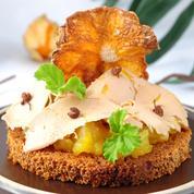 Tartine exotique au foie gras