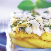 Émietté de lieu jaune et pommes épicées