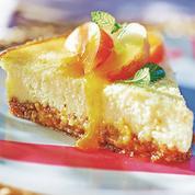 Cheesecake pêche-abricot