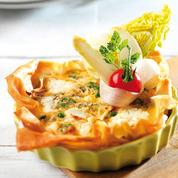 Tartelette printanière et ses légumes crus