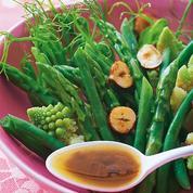 Salade de légumes vinaigrette au café
