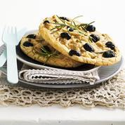 Fougasse aux olives façon cookies (sans gluten)