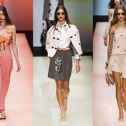Milan Fashion Week : Armani voit la vie en rose