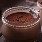 Petit pot de crème chocolat café