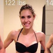 Une blogueuse fitness prouve que le poids sur la balance ne veut rien dire