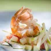 Langoustines et tartare de pomme de terre