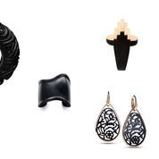 Bijoux : les créateurs s'approprient l'onyx, le jais et d'autres pierres sombres