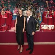 Uma Thurman inaugure les vitrines de Noël du Printemps