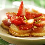 Sablés rhubarbe et fraises