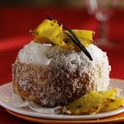 Gâteau coco-cannelle, ananas aux 3 épices