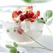 Riz au lait aux fraises et fraises des bois