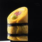 Roulés d'omelettes au thon cru façon sushi