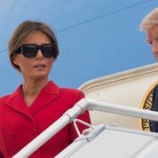 Melania Trump voit rouge en Dior pour son premier jour à Paris