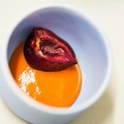 Bavaroise de poivrons rouges à la menthe