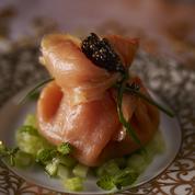 Aumônières de saumon au caviar