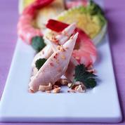 Salade franco-exotique crevettes poulet