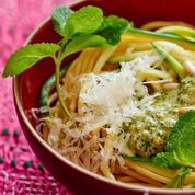 Spaghettis à la courgette et à la menthe