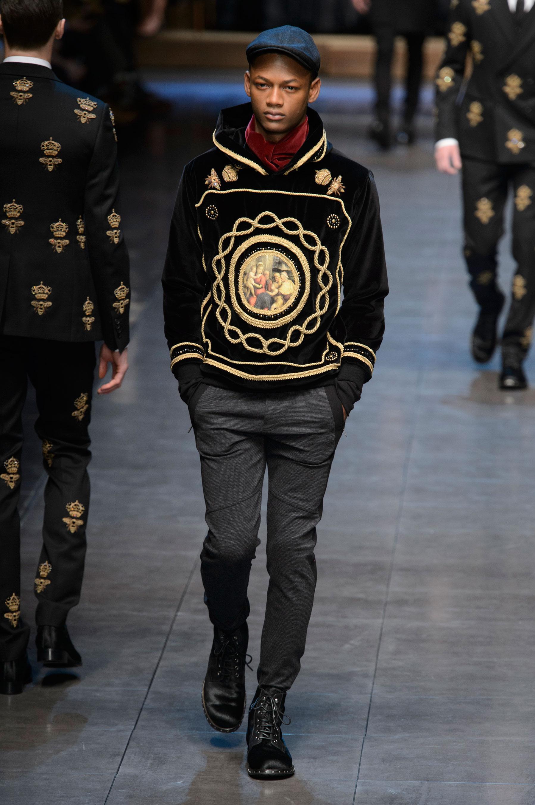 83ae371cedaa Défilé Dolce   Gabbana Automne-hiver 2015-2016 Homme - Madame Figaro