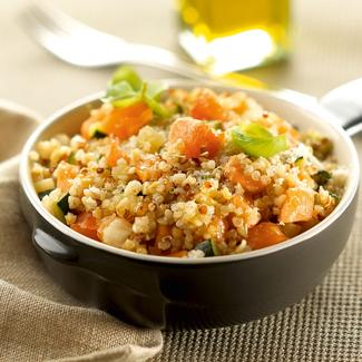 recette risotto de quinoa gourmand courgette saumon. Black Bedroom Furniture Sets. Home Design Ideas