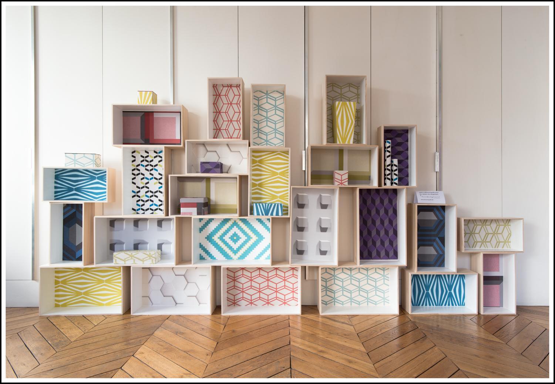 et si on mettait du papier peint ailleurs que sur les murs. Black Bedroom Furniture Sets. Home Design Ideas