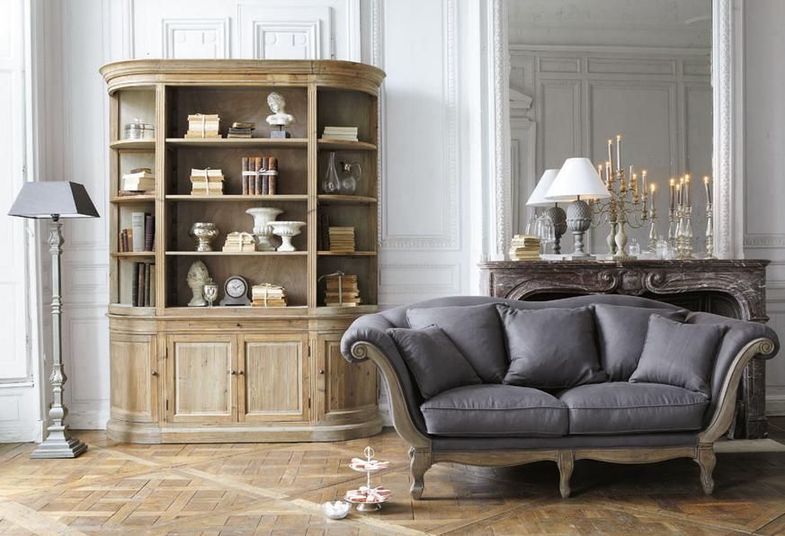 une biblioth que design dans mon salon madame figaro. Black Bedroom Furniture Sets. Home Design Ideas