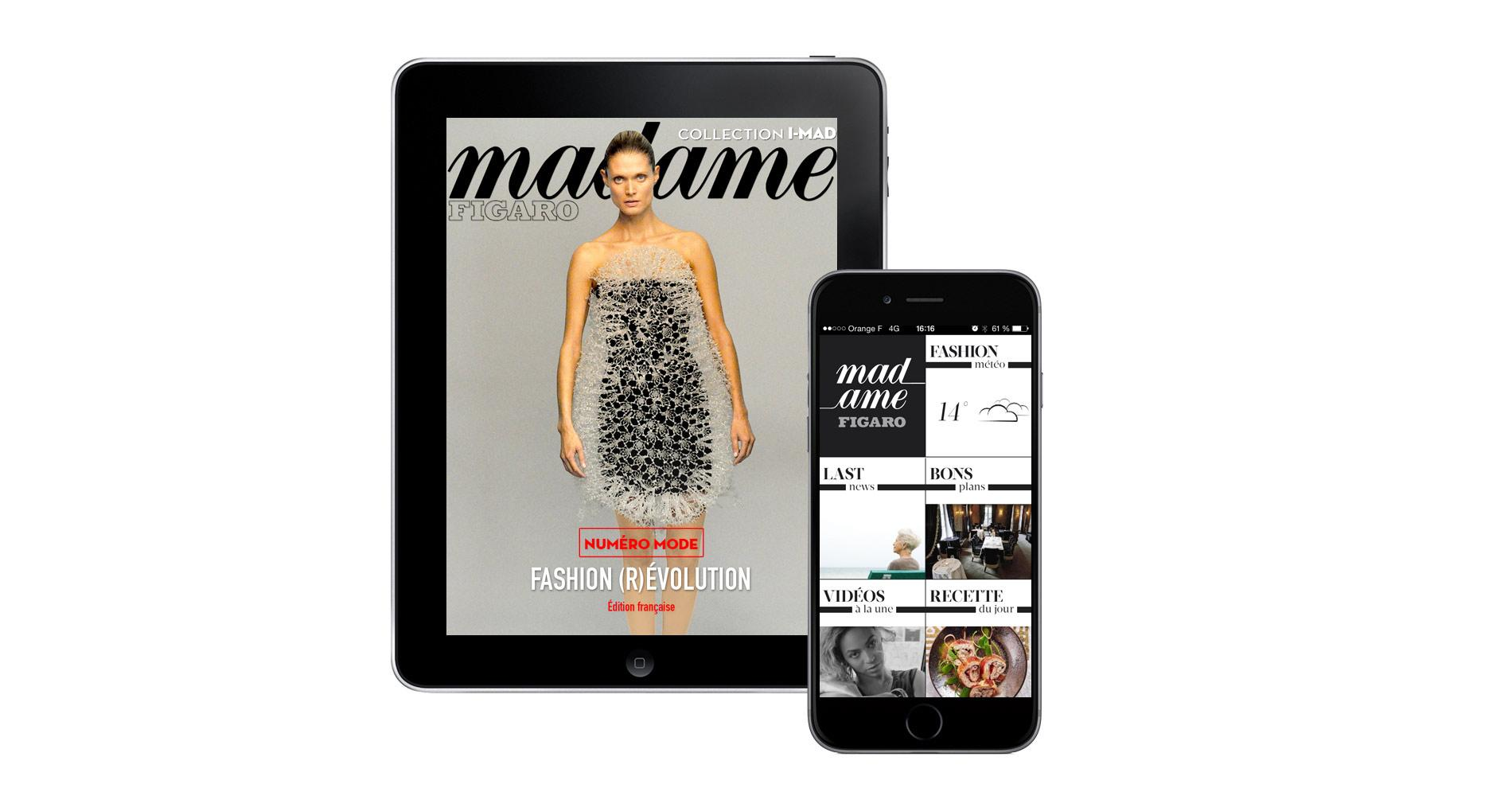 les applications 100 digitales de madame figaro sur vos tablettes et smartphones madame figaro. Black Bedroom Furniture Sets. Home Design Ideas