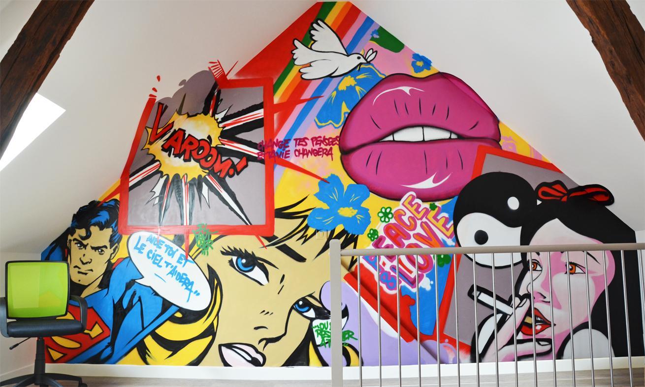 Personnalisez votre intérieur grâce au graffiti