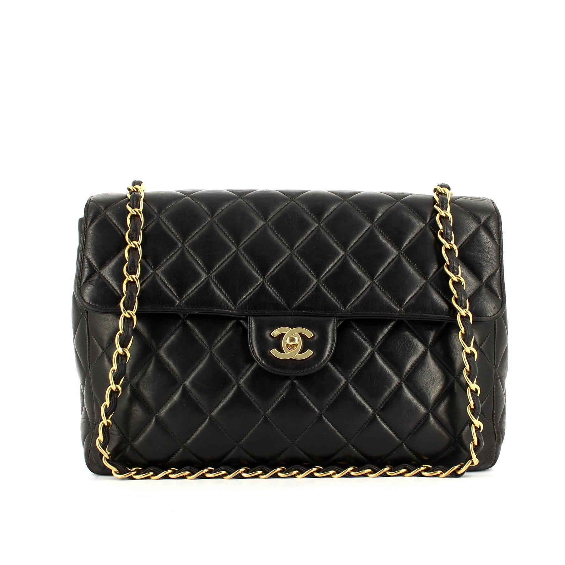 Chanel Sac Sac Chanel Timeless Noir Cuir Femme