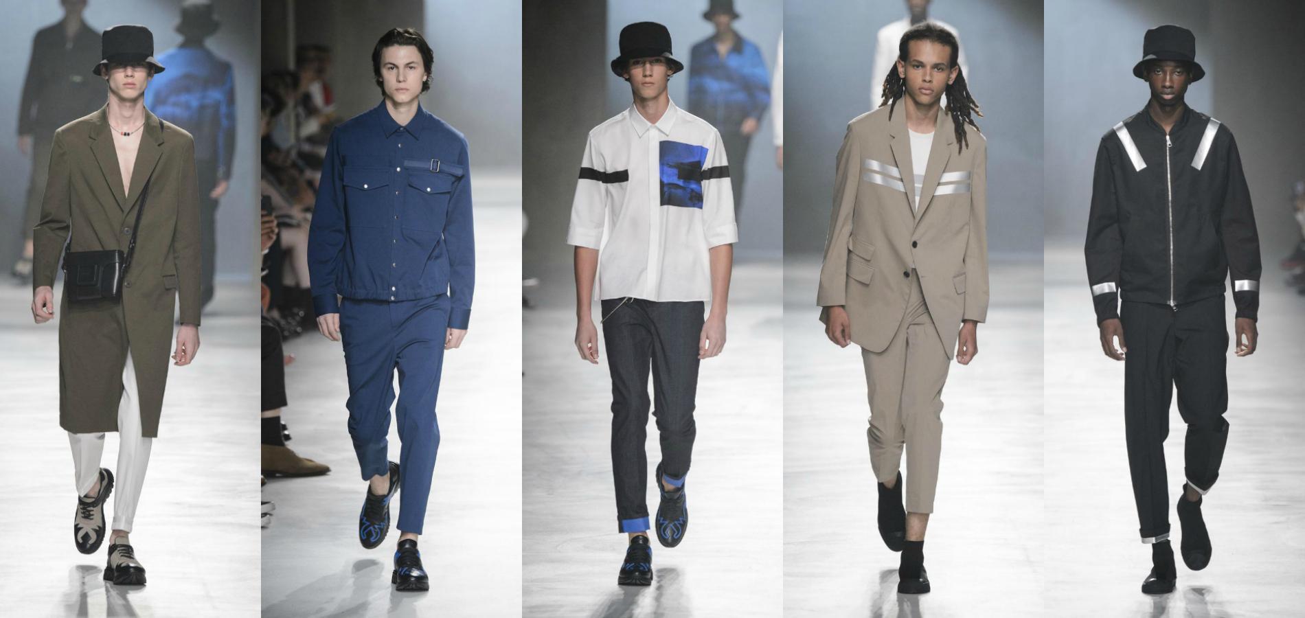 Défilé Neil Barrett, Fashion Week Printemps été 2018 de Milan. ade9a9955ef
