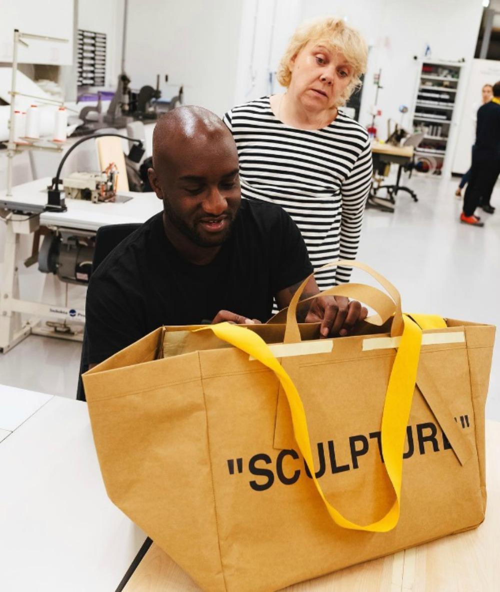La Collab Ikea X Off White Ou Le Sacre Du Frakta Bag Madame Figaro