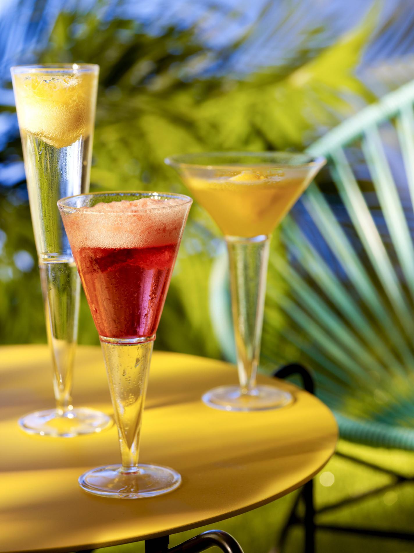 cocktail pétillant framboise