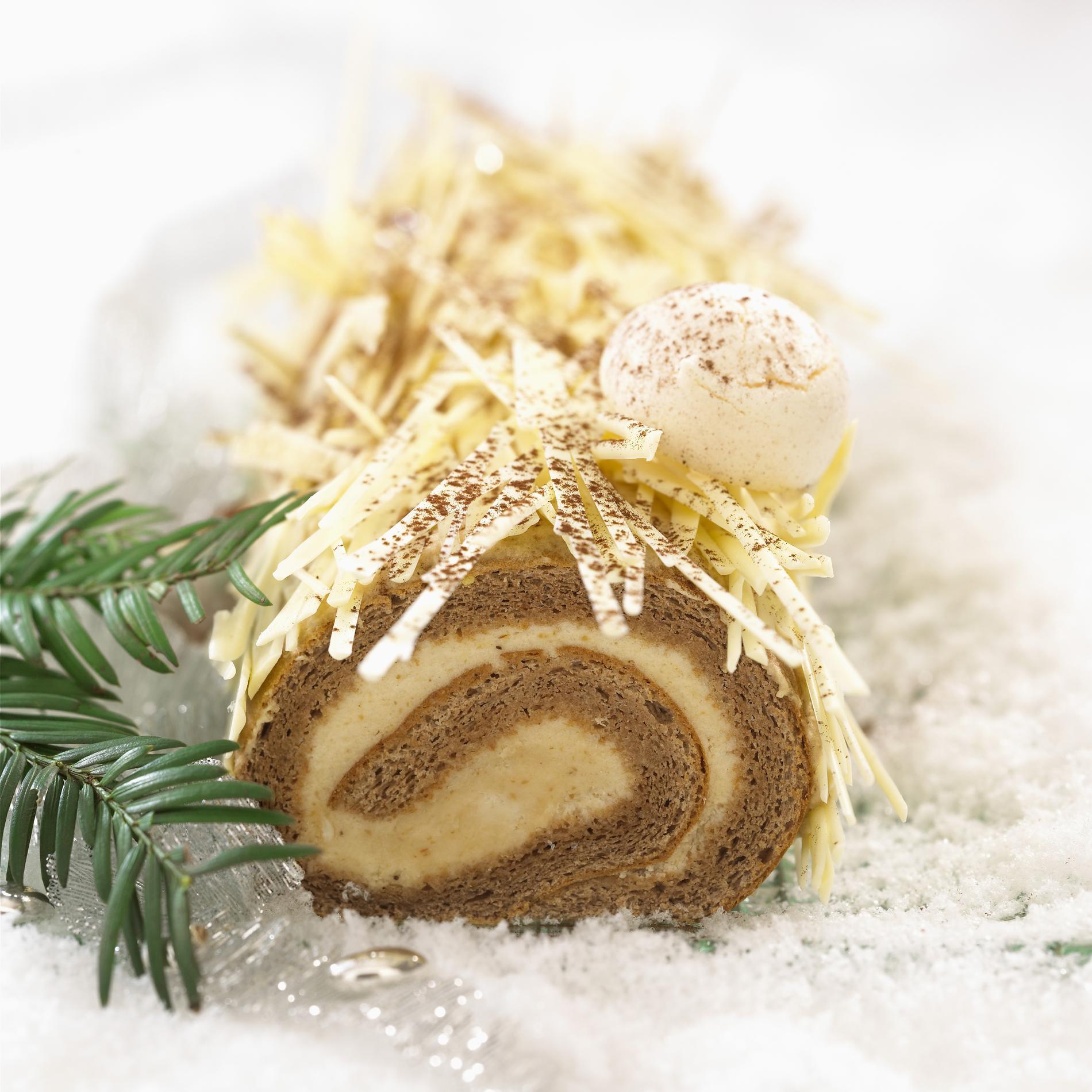 Recette Buche De Noel A La Creme De Marron Et Au Chocolat Blanc
