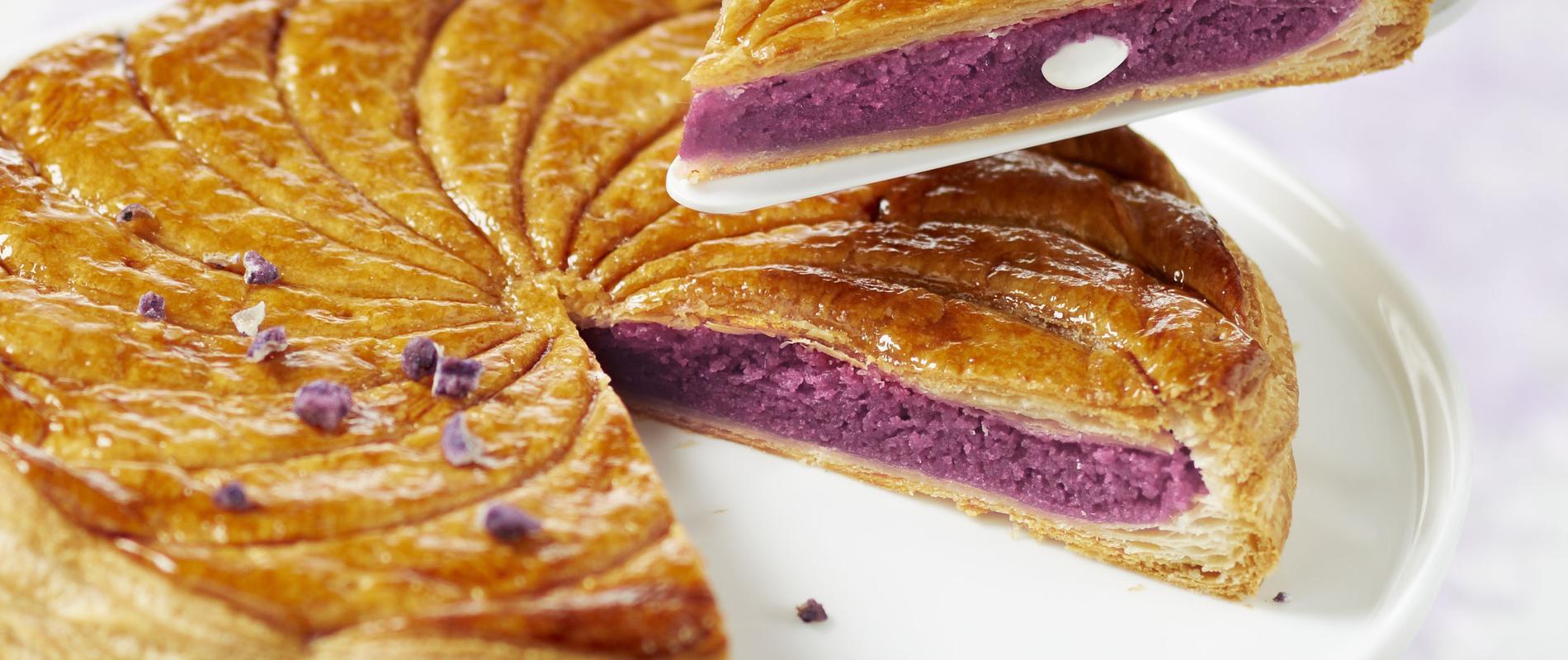 Recette Galette A La Creme De Violette Et Aux Amandes Cuisine