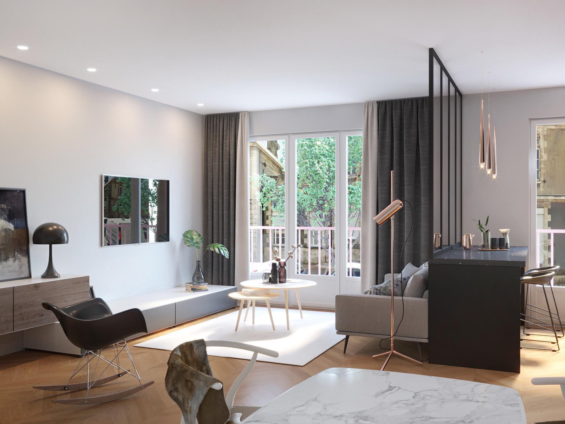comment ouvrir sa cuisine sur le salon madame figaro. Black Bedroom Furniture Sets. Home Design Ideas