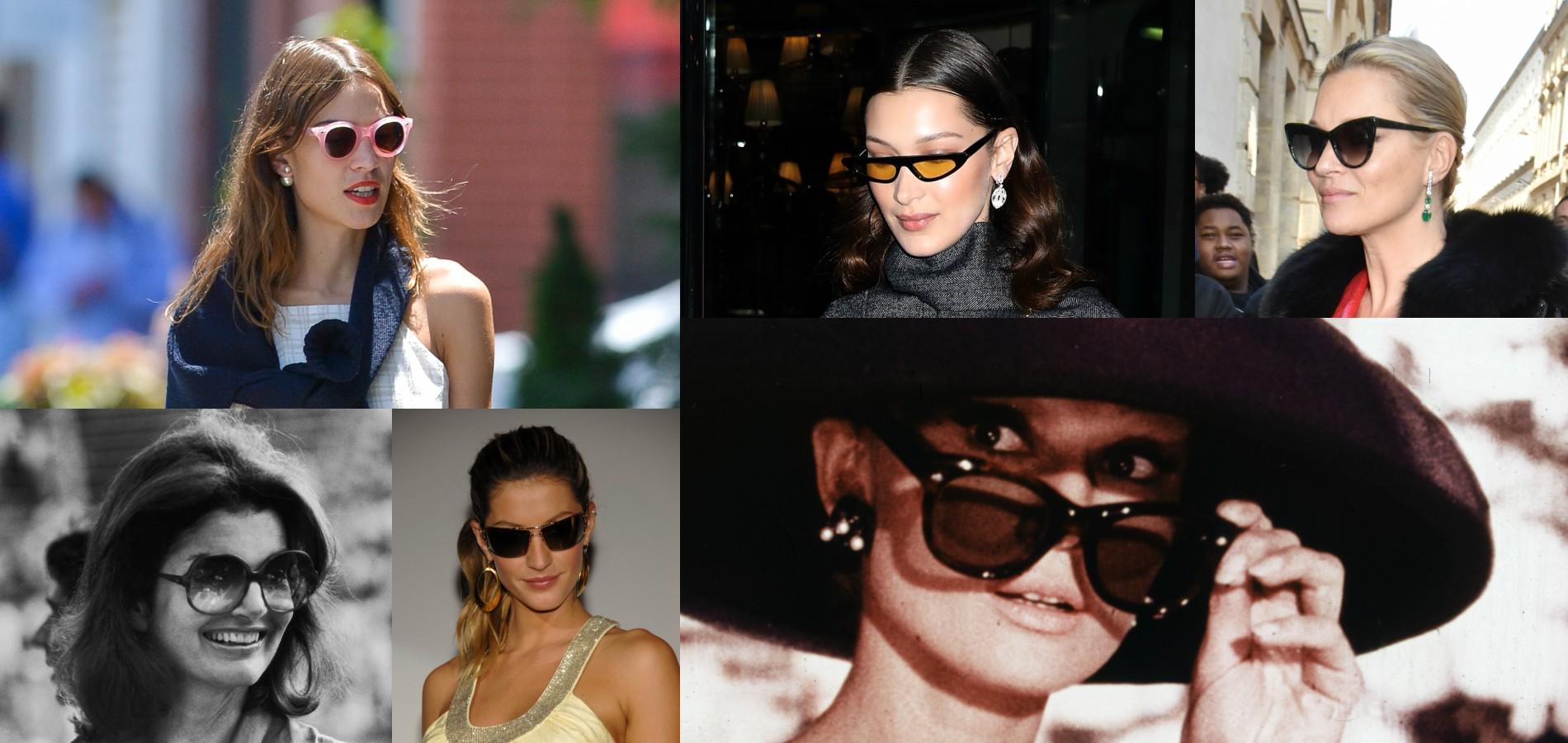 b68d6fb86a6352 Alexa Chung et ses lunettes rondes, Jacqueline Kennedy Onassis et ses  montures XXL, les sœurs Hadid et leurs modèles façon Matrix...  Lorsqu arrive le moment ...