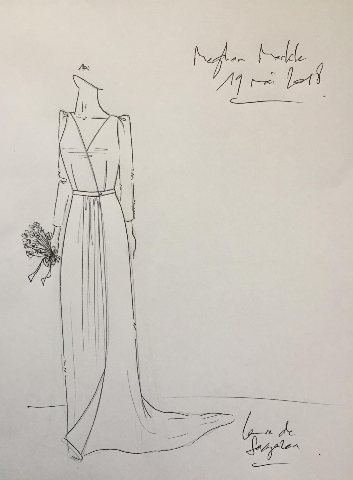 La Robe De Mariee Ideale De Meghan Markle Selon Laure De Sagazan