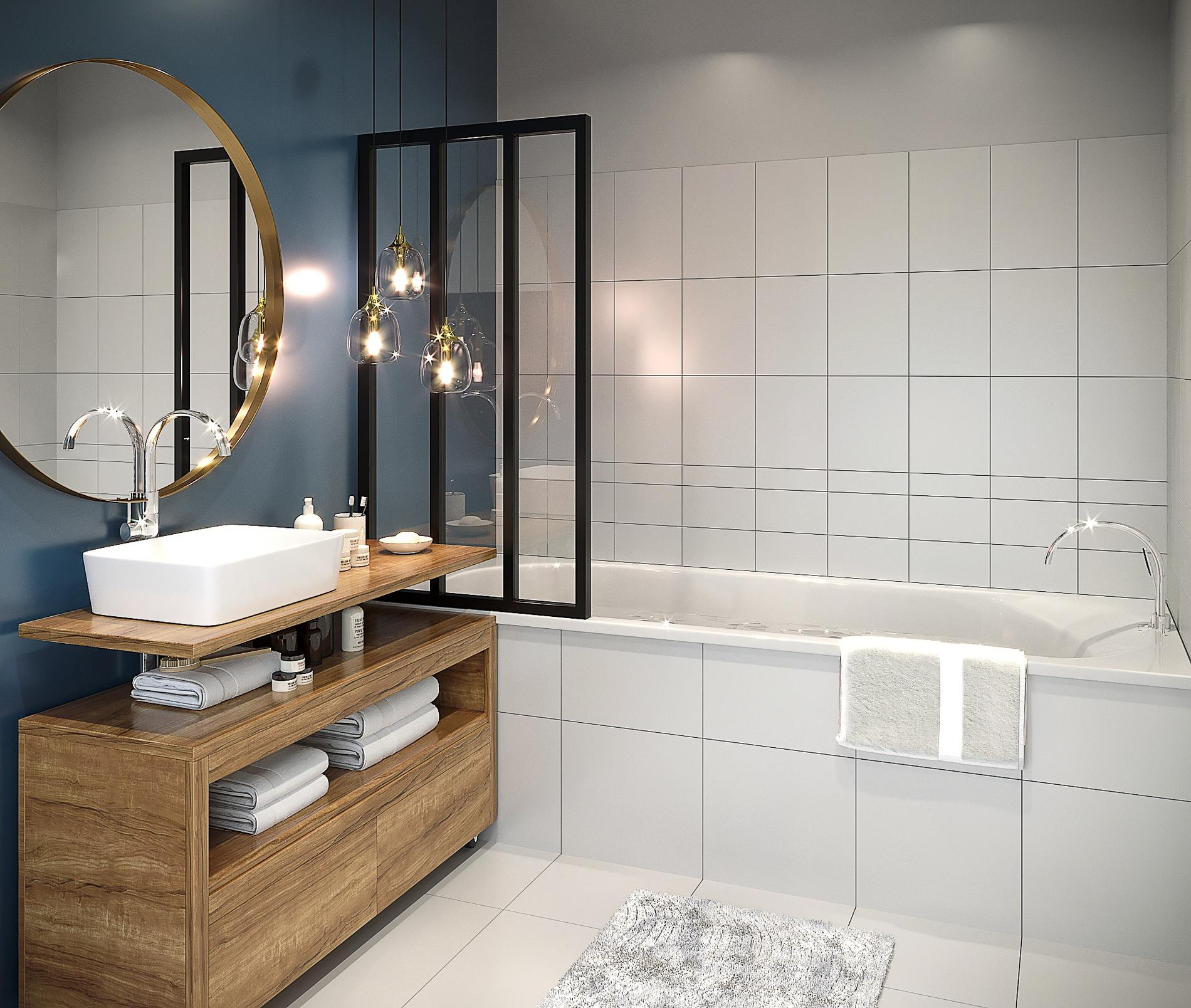 Comment relooker une salle de bains madame figaro for Surface d une salle de bain