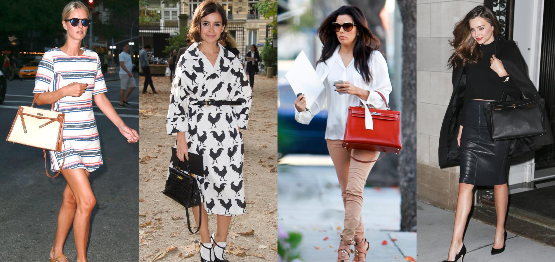 57472417c25a De Miranda Kerr à Eva Longoria, cinq façons de porter le Kelly d Hermès