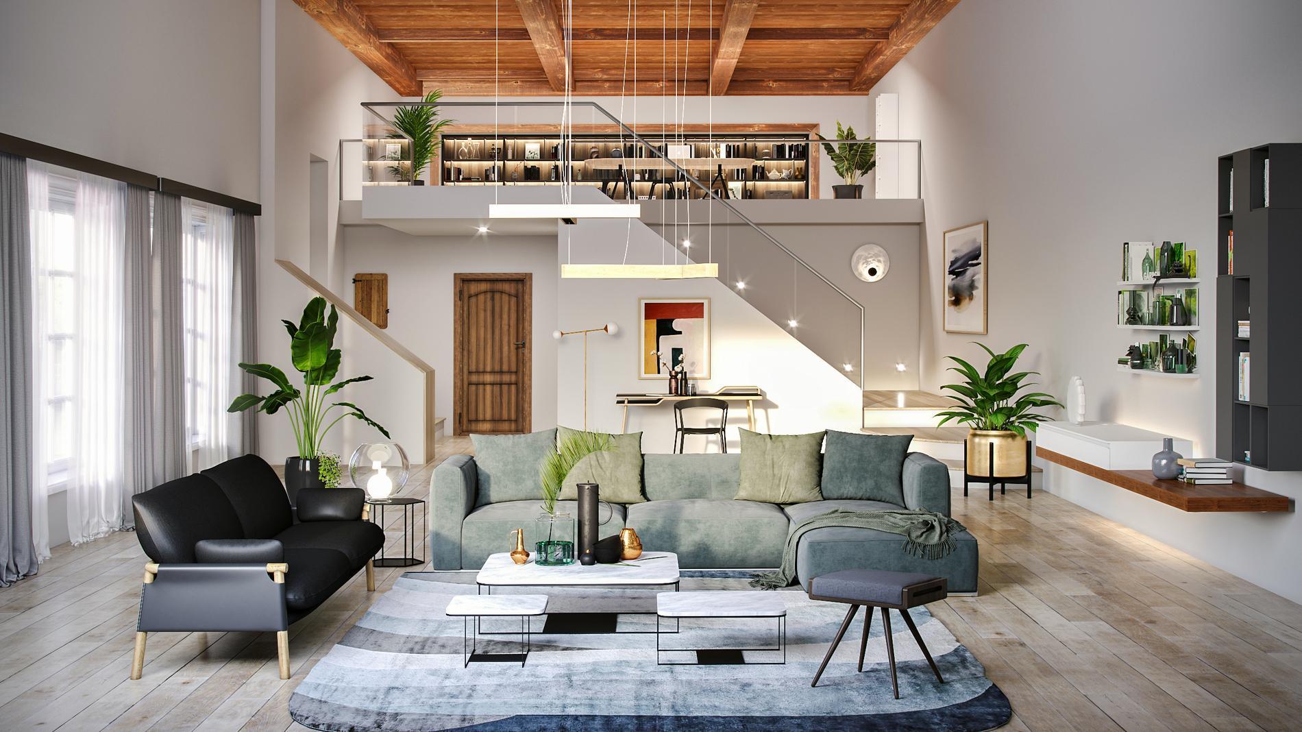 quelle d co pour le salon contemporain jungle ou. Black Bedroom Furniture Sets. Home Design Ideas